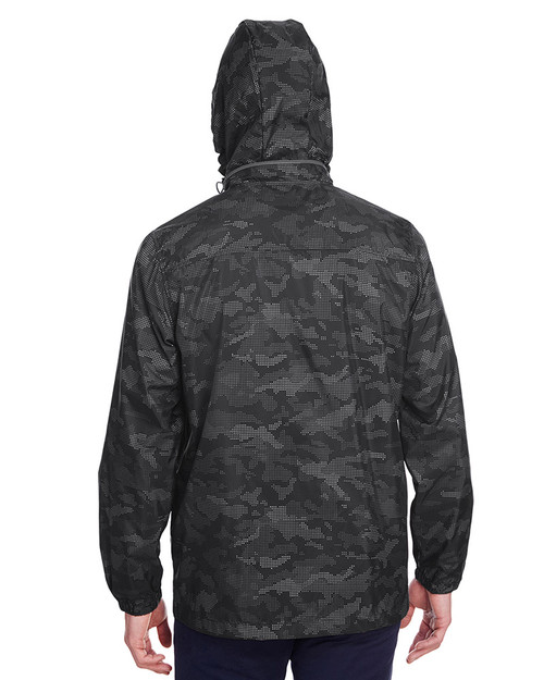 Black/Carbon - back, NE711 North End Men's Rotate Reflective Jacket | Blankclothing.ca
