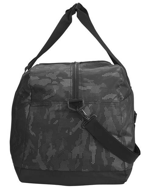 Black/Carbon - Side, NE902 North End Rotate Reflective Duffel Bag | Blankclothing.ca