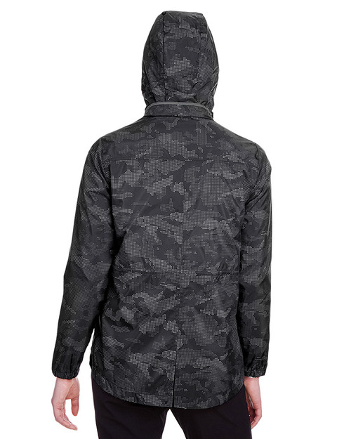 Black/Carbon - back, NE711W North End Ladies' Rotate Reflective Jacket | Blankclothing.ca