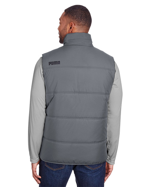 Quiet Shade/Puma Black - back, 582007 Puma Sport Essential Adult Padded Vest | BlankClothing.ca