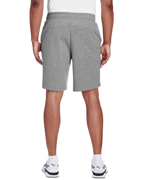 Midnight Grey Heather/Puma Black - back, 582008 Puma Sport Essential Adult Bermuda Short | Blankclothing.ca