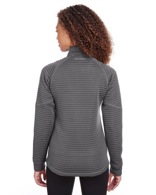 Polar - back, S16639 Spyder Ladies' Capture Quarter-Zip Fleece Sweatshirt | Blankclothing.ca