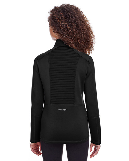 Black - back, S16522 Spyder Ladies' Venom Full-Zip Jacket | Blankclothing.ca