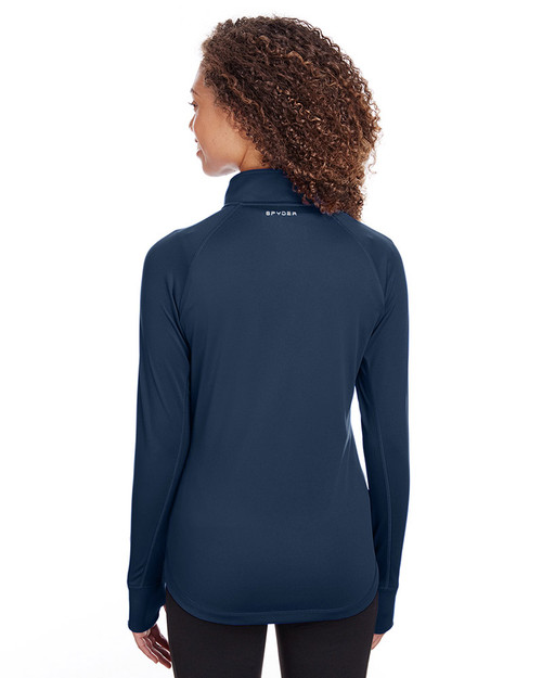 Frontier - back, S16798 Spyder Ladies' Freestyle Half-Zip Pullover Sweatshirt | Blankclothing.ca