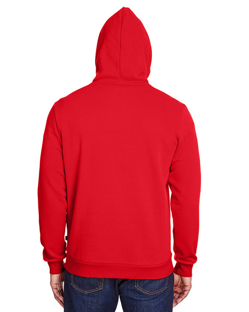 High Risk Red/Quiet Shade - back, 596990 Puma Sport Adult Puma Essential Fleece Hoody | Blankclothing.ca