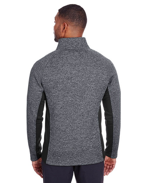 Black Heather/Black - Back, S16561 Spyder Men's Constant Half-Zip Sweater | BlankClothing.ca