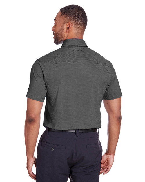 Black Stripe - Back, S16544 Spyder Men's Boundary Polo | BlankClothing.ca