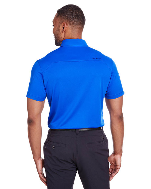 Royal - Back, S16532 Spyder Men's Freestyle Polo | BlankClothing.ca