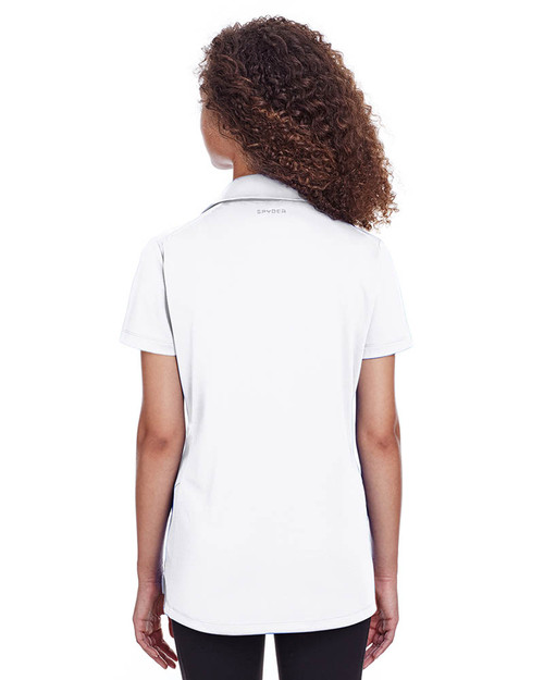 White - Back, S16519 Spyder Ladies' Freestyle Polo | BlankClothing.ca
