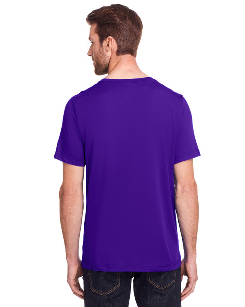 Campus Purple - Back, CE111 Core 365 Adult Fusion ChromaSoft Performance T-Shirt | BlankClothing.ca