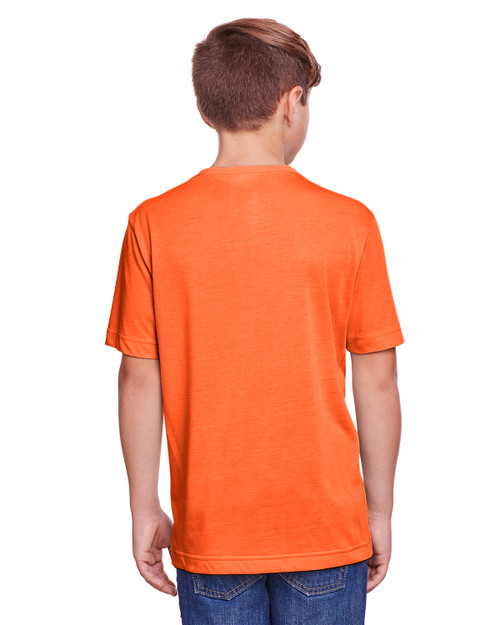 Campus Orange - Back, CE111Y Core 365 Youth Fusion ChromaSoft Performance T-Shirt | BlankClothing.ca