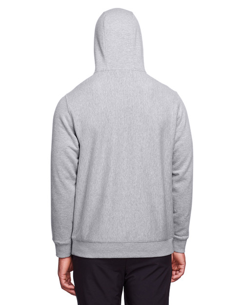 Athletic Heather - Back, TT96 Team 365 Adult Zone HydroSport™ Heavyweight Pullover Hooded Sweatshirt | BlankClothing.ca