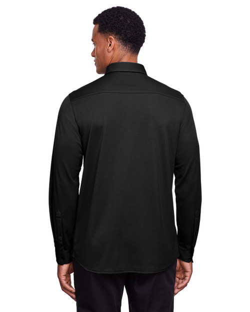 Black - Back, DG20Z Devon & Jones Men's CrownLux Performance™ Plaited Button-Down Shirt | BlankClothing.ca