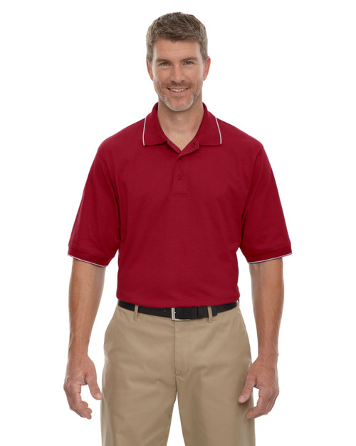Crimson - 85032 Extreme Men's Cotton Jersey Polo | BlankClothing.ca