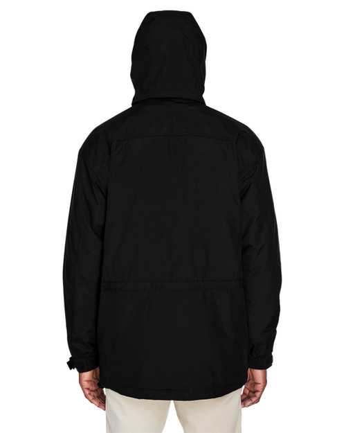 Black - 88007 North End Adult 3-in-1 Parka with Dobby Trim | BlankClothing.ca