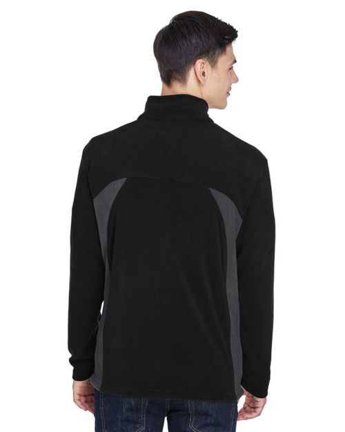 Black - Back, 88123 North End Men's Microfleece Jacket | BlankClothing.ca