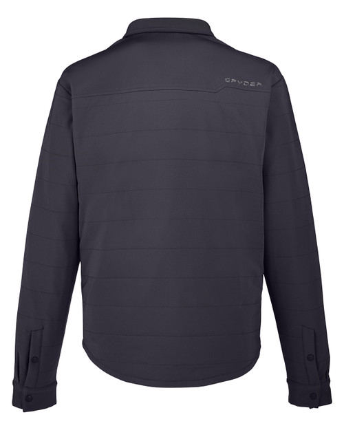 Black - Back, S17030 Spyder Adult Transit Shirt Jacket | BlankClothing.ca