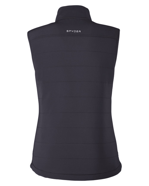 Black - Back, S17029 Spyder Ladies' Transit Vest | BlankClothing.ca