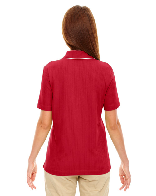 Crimson - Back, 75045 Extreme Ladies' Edry™ Needle Out Interlock Polo Shirt | BlankClothing.ca