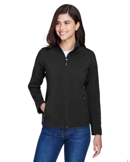 Black - 78184 Core 365 Ladies' Fleece Soft Shell Jacket | Blankclothing.ca