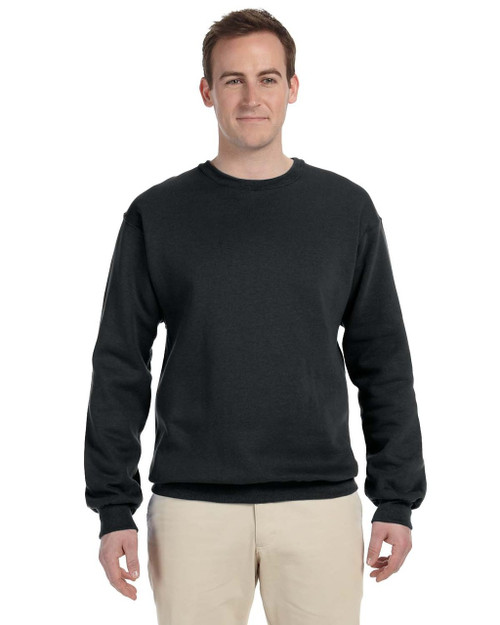 Black 82300 Fruit of the Loom Supercotton™ Fleece Crew Sweater | Blankclothing.ca