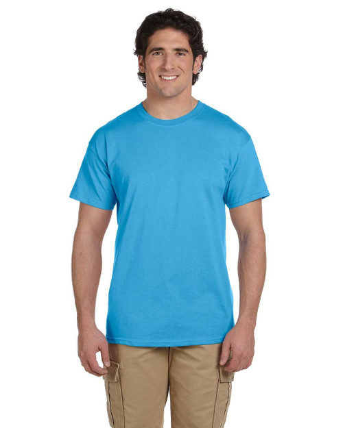 Aquatic Blue - 3931 Fruit of the Loom 100% Heavy Cotton HD® T-Shirt | Blankclothing.ca