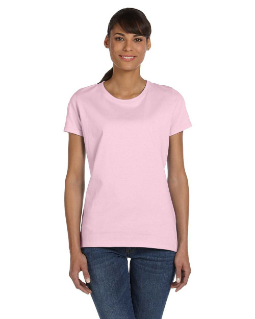 Classic Pink L3930R Fruit of the Loom Ladies' 100% Heavy Cotton HD® T-Shirt | Blankclothing.ca