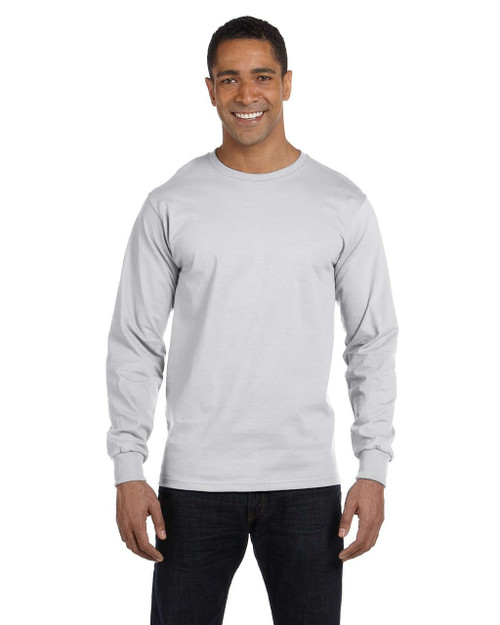 Ash Grey - G840 Gildan DryBlend 50/50 Long Sleeve T-Shirt | Blankclothing.ca