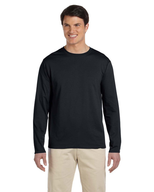 Black - G644 SoftStyle Long Sleeve T-Shirt | Blankclothing.ca