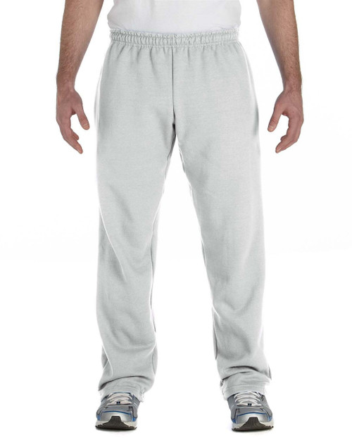 Ash - G184 Gildan Heavy Blend 50/50 Open Bottom Sweatpants | Blankclothing.ca