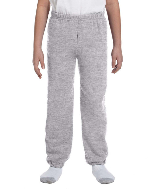 Sport Grey G182B Gildan Heavy Blend Youth 50/50 Sweatpants | Blankclothing.ca