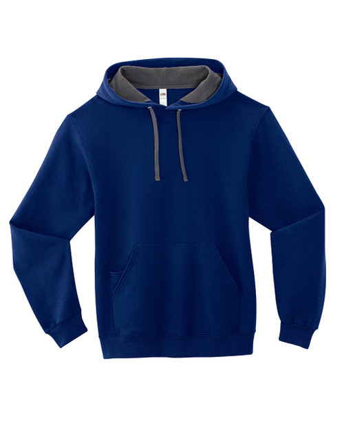 Admiral Blue SF76R Fruit of the Loom Softspun Hooded Sweatshirt | Blankclothing.ca