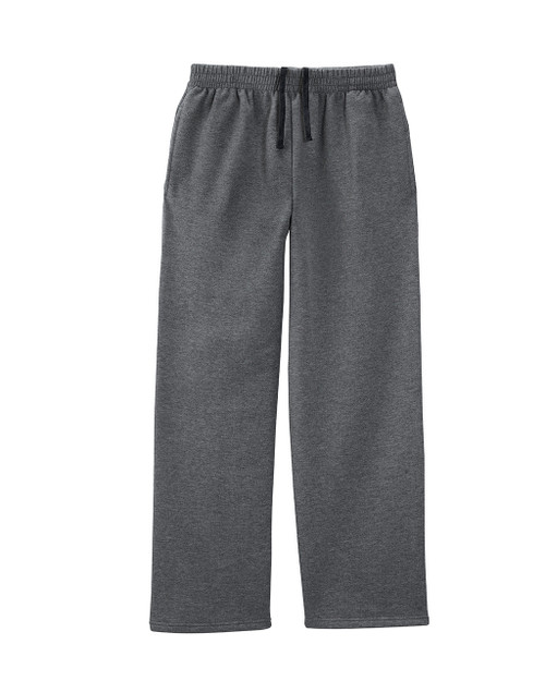 Charcoal Heather SF74R Fruit of the Loom Softspun Open Bottom Pocket Sweatpants | Blankclothing.ca
