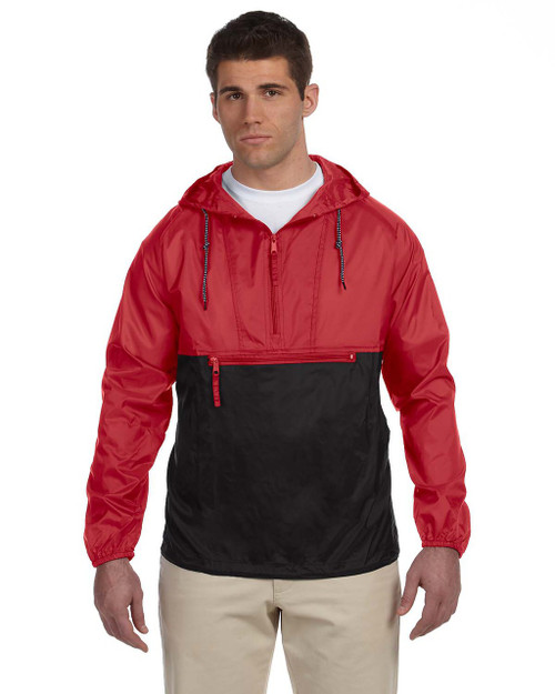 Red/Black - M750 Packable Nylon Jacket