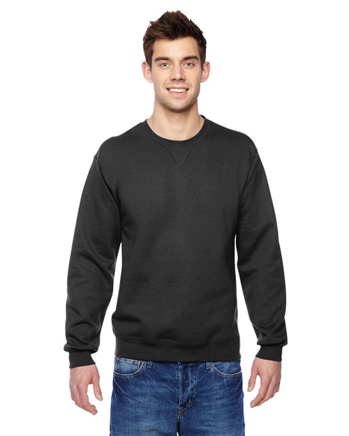 Black - SF72R Fruit of the Loom Sofspun® Crewneck Sweatshirt  | Blankclothing.ca
