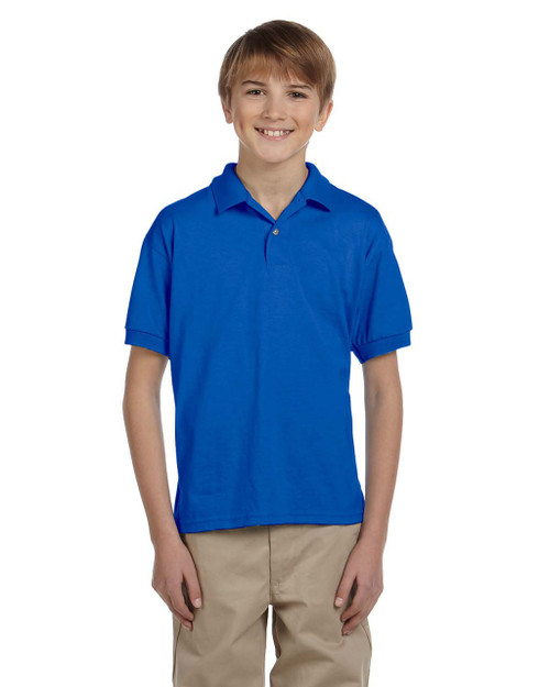 Royal - G880B Gildan DryBlend® Youth 50/50 Jersey Polo Shirt | Blankclothing.ca
