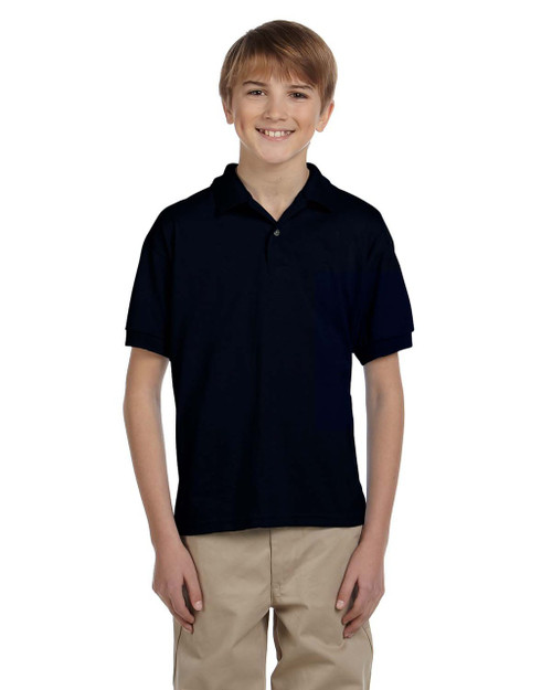 Black - G880B Gildan DryBlend® Youth 50/50 Jersey Polo Shirt | Blankclothing.ca