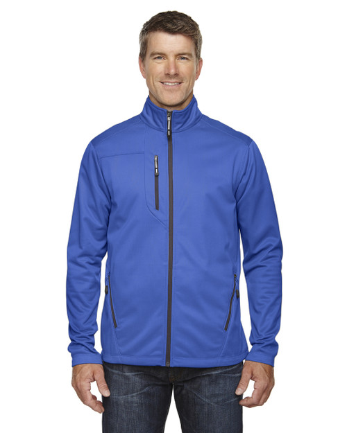Nautical Blue - 88213 North End Men's Trace Printed Fleece Jacket | Blankclothing.ca