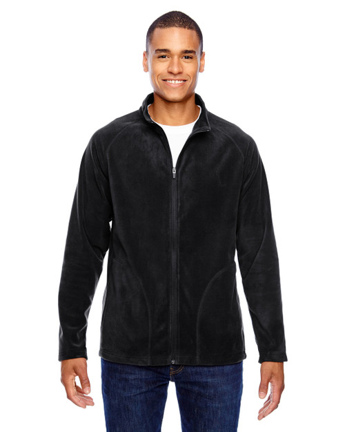 Black - TT90 Team 365 Men's Campus Microfleece Jacket | BlankClothing.ca