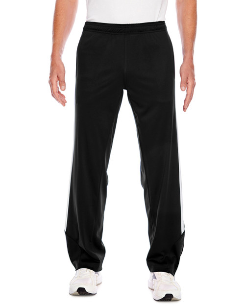 Black/White - TT44 Team 365 Men's Elite Performance Fleece Pant | Blankclothing.ca