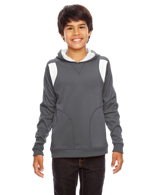 Graphite/White - TT30Y Team 365 Youth Elite Performance Hoodie | BlankClothing.ca