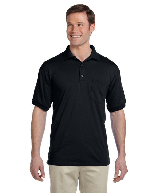 Black - G890 Gildan DryBlend® 50/50 Jersey Polo Shirt with Pocket | Blankclothing.ca