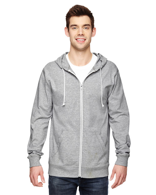 Athletic Heather SF60R Fruit of the Loom Softspun Cotton Jersey Full-Zip Hoodie | Blankclothing.ca