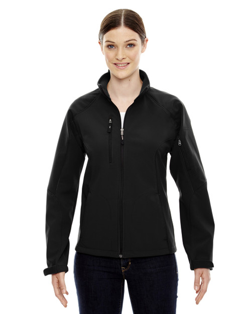 Black - 78077 North End Ladies' Colour-Block Soft Shell Jacket | Blankclothing.ca