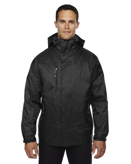 Black - 88120 North End Men's 3-In-1 Techno Performance Seam-Sealed Hooded Jacket   Blankclothing.ca