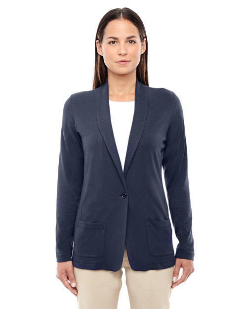 Navy - DP462W Devon & Jones Ladies' Perfect Fit Shawl Collar Cardigan