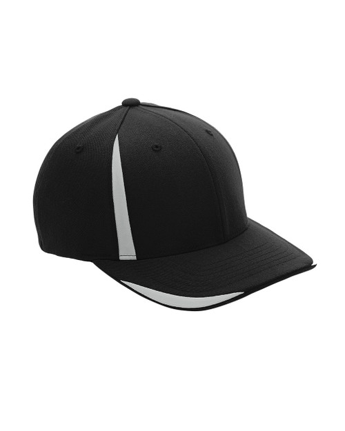 Black/Sport Silver ATB102 Flexfit for Team 365 Pro-Formance Front Sweep Cap