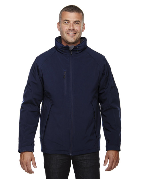 Classic Navy - 88159 North End Men's Insulated Soft Shell Jacket With Detachable Hood | Blankclothing.ca
