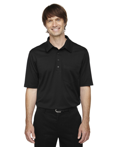 Black 85114T Ash City - Extreme Eperformance Men's Tall Protection Plus Polo Shirt