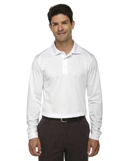 white 85111 Ash City - Extreme Eperformance Men's Long-Sleeve Polo Shirt